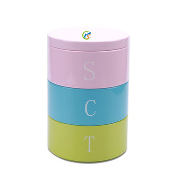 Colorful Stacking Stackable Tea Coffee Sugar Food Kitchen Storage Canister  - Buy Storage Canisters,Food Kitchen Storage Canister,Colorful Stacking ...