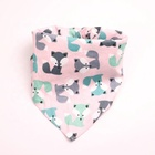 Custom 100% Cotton Print Logo Triangle Dog Accessories Pet Bandanas
