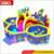 Colorful fun inflatable jumping bouncer commercial grade inflatable bouncers slide combo