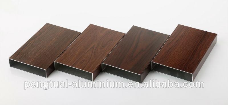 Perfil de aluminio de madera buen acabado para puertas y for Perfiles de madera