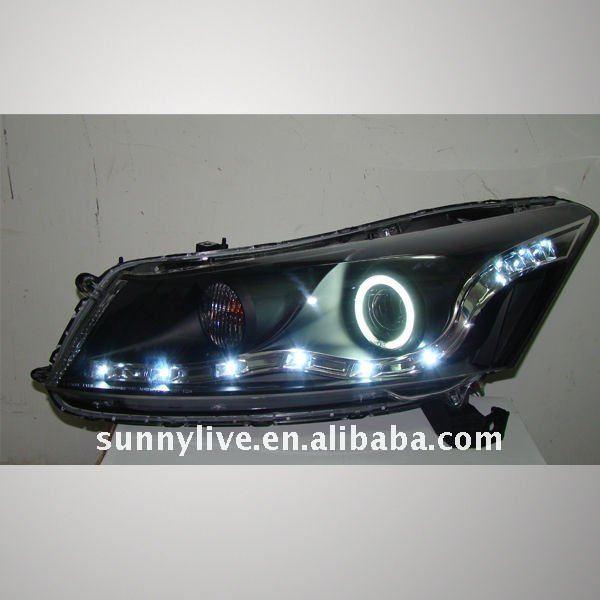 2008 V2 Type Head Lamp For Honda Accord Angel Eyes Led Head Lamp ...