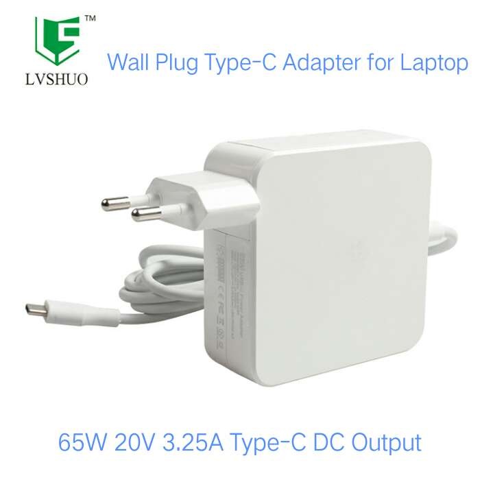 Laptop Type-C AC Charger Adapter 65W Type C Wall Charger