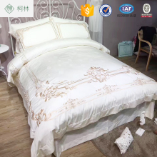 China supplier popular design beautiful embroidery bed sheet sets bedding set