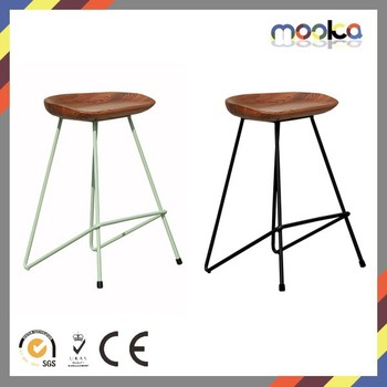 Bar Stool Wooden Seat Bar Stool Metal Frame Wooden Seat Tractor Counter Bar Stool  sc 1 st  Alibaba & Bar Stool Wooden Seat Bar Stool Metal Frame Wooden Seat Tractor ... islam-shia.org