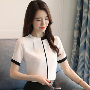3079aabe89ea7a or20060a wholesale newly factory manufacturer women office shirts elegant  chiffon ladies tops blouse