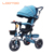 New model blue light weight foldable umbrella push handle baby tricycle bike for to germany market uk on sale