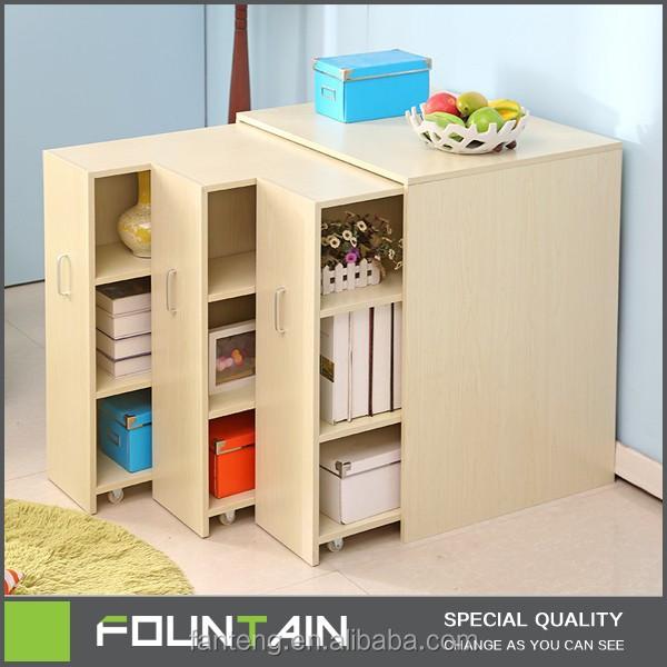 Pas cher salon moderne tiroir de rangement armoire grand r glable en bois ta - Bibliotheque moderne pas cher ...