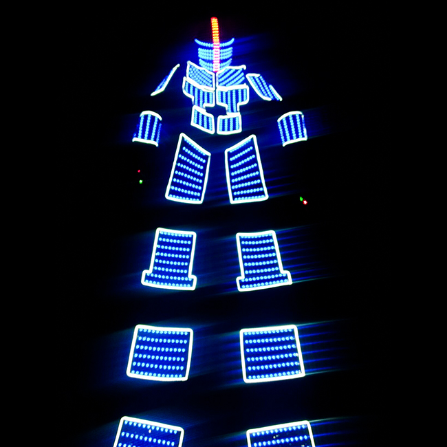 2018 New Product Luminous Led Robot Costume For Dancing Performance
