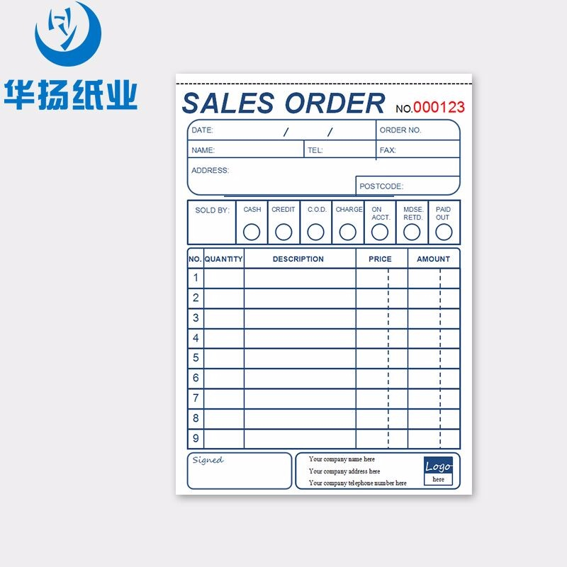China Factory Invoice Pad Custom Delivery Note Order Form  Buy