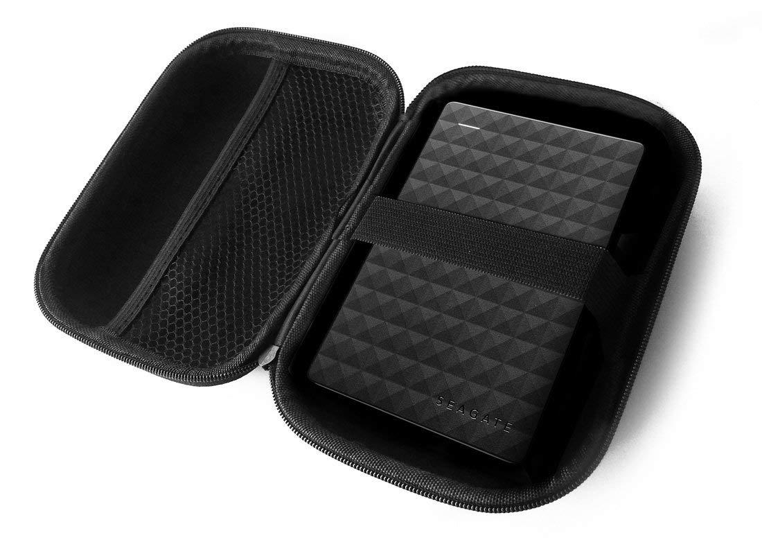 FitSand (TM) Travel Zipper Carry EVA Hard Case for Seagate Expansion 1TB 2TB 4TB Portable External Hard Drive