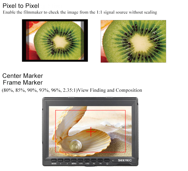 17mm Thickness 7 Inch Full Hd Dslr Lcd Monitor Ips Panel Hdmi Dual ...