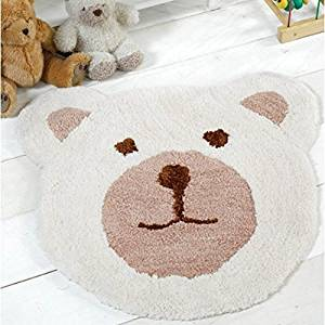 Get Quotations Flair Rugs Nursery Teddy Bear Shaped Childrens Rug Natural 75 X 80 Cm By