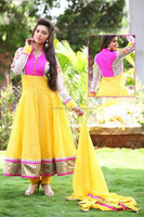 Yellow Beautiful Full Length Party Wear Long Anarkali Dress Designer Salwar Kameez Anarkali Bridal Dresses R1359