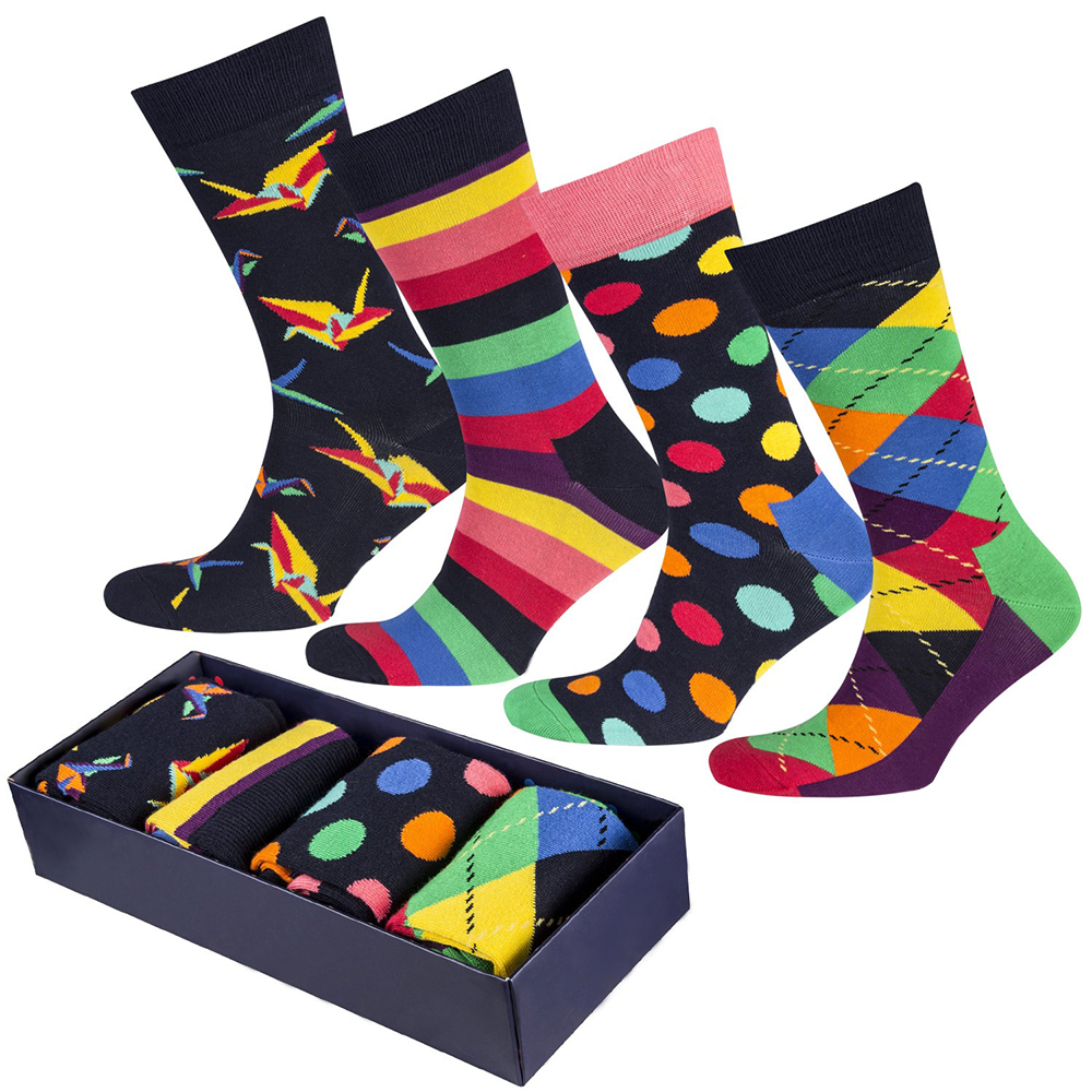 Custom Happy Socks Men Socks in Box