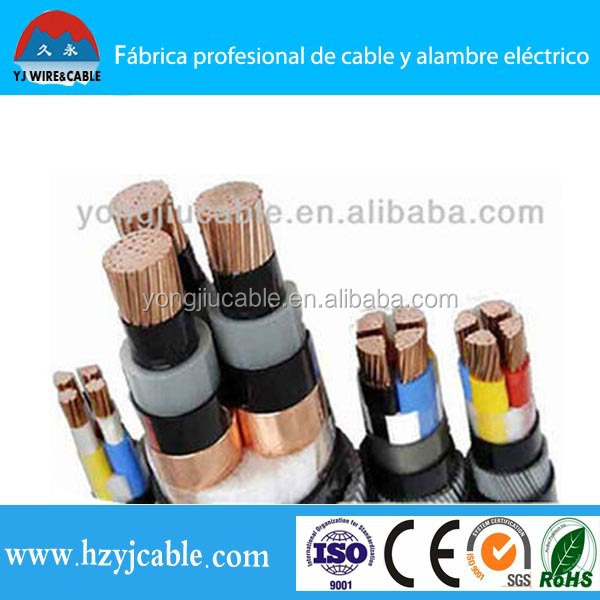 0.6/1kv Low Voltage Multicore Copper Conductor XLPE Insulated PVC Sheath Armoured Power Cable