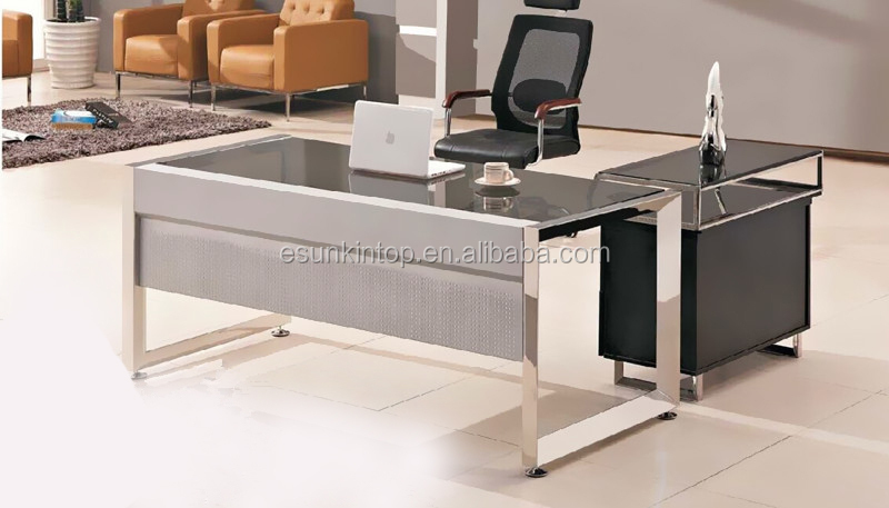 Tavolo Ufficio Legno : Moderno piano in vetro tavolo ufficio design con tavolino di legno