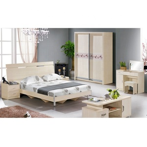 Europe Style Furniture Living Room Wooden Bed Design