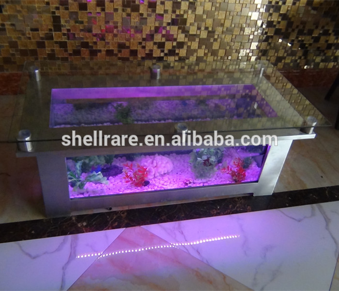 LED licht aquarium aquarium tafel, thuis salontafel, water bubble salontafel