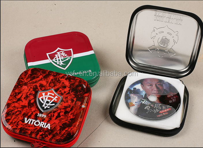 High Quality Customized Portable Aluminum Cute Metal Cd Case For Kids