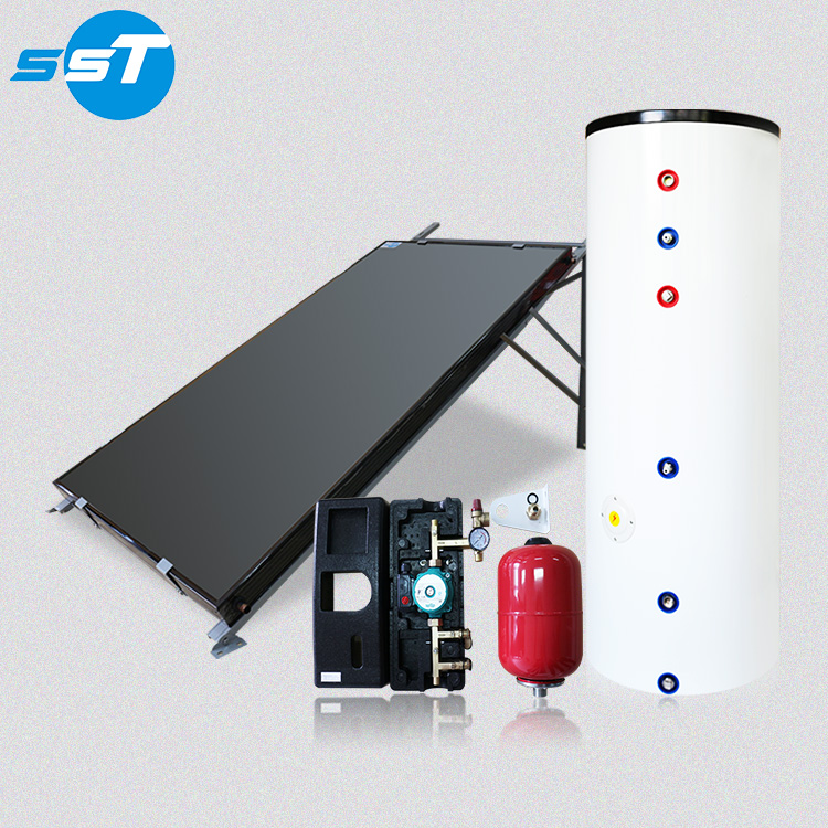 304/316/2205/2304 duplex stainless steel pressurized solar copper heat pipe solar water heating boiler system