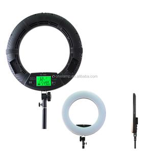 FE-480II Makeup Ring Light LED Video Light Ring Lamp LCD Screen