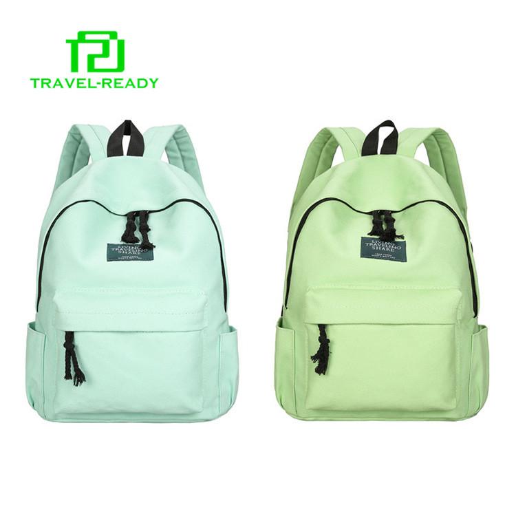 52f5bbc06e31 stylish retro canvas plain rucksack backpacks for teens school bags 2018
