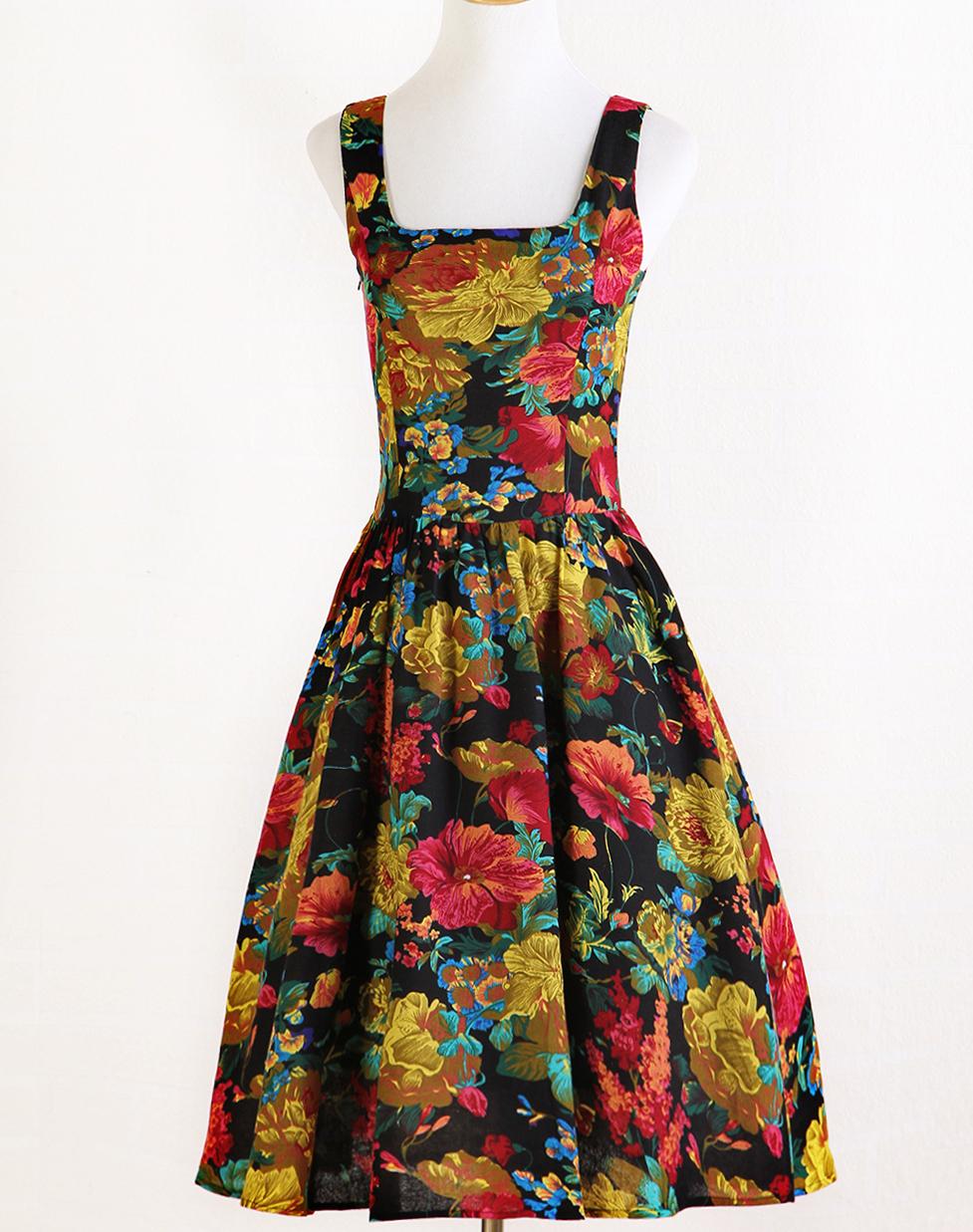 d7c0d0355d 1950 s retro online shoing clothing sleeveless fashion vintage plus size  unique design casual dresses