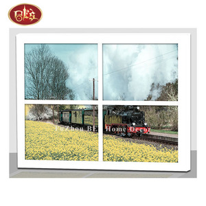 lighted train canvas