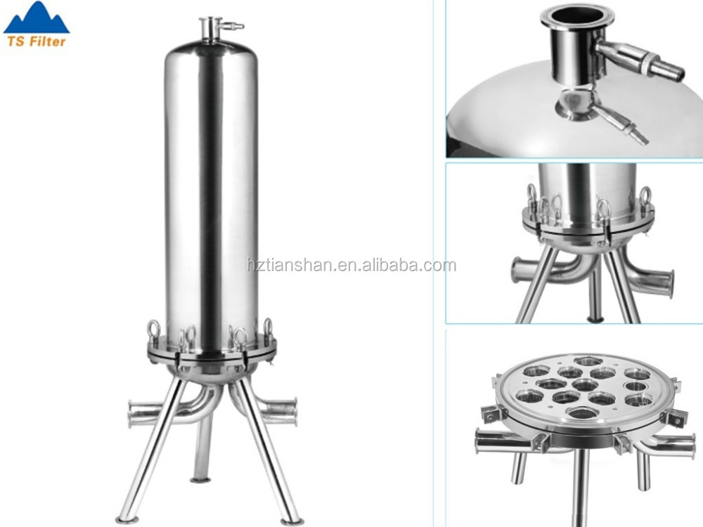 Stainless steel cartridge filter housing for sea water filtration / peco filter