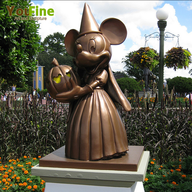 Outdoor Mental Craft Cartoon Mickey Bronze Mouse Statue