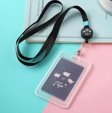 1 шт. Прозрачный чехол для карт Kawaii Animals, прозрачный держатель для карт со шнурком, кредитный держатель для карт s, держатель для карт, канцеля...(Китай)