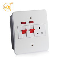 Metal 6x6 45amp cooker control unit switched socket