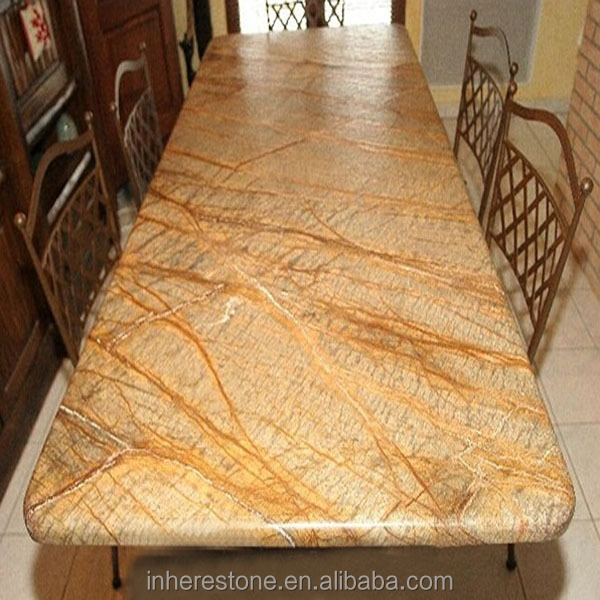 Exceptional Beige Marble Slab Table Top