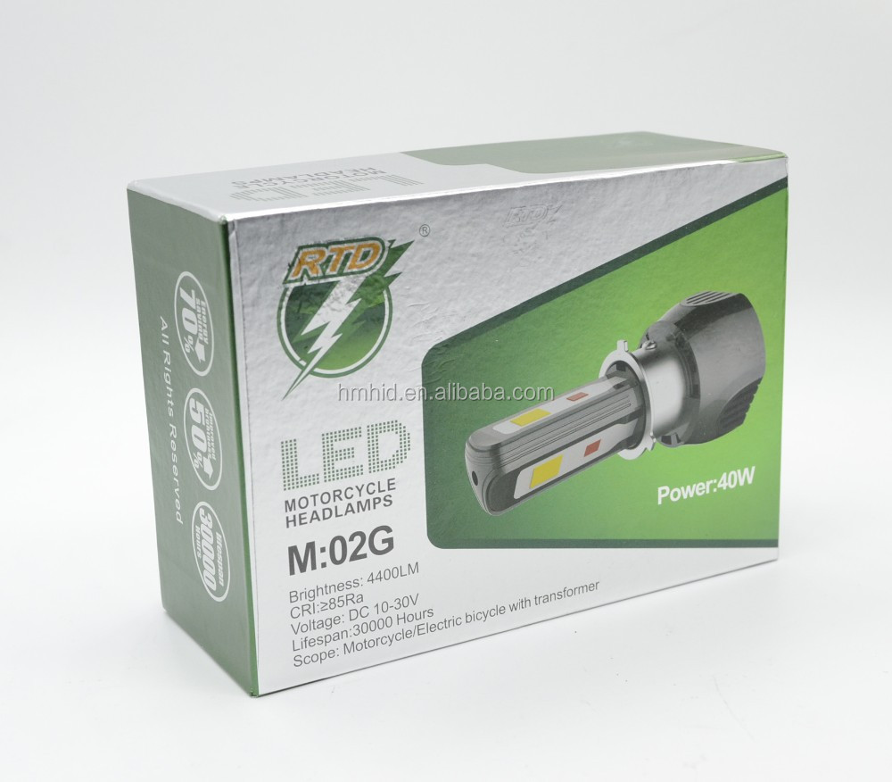 Super Terang 40 W 4400lm M02g Rtd 12 V H4 H6 Led Headlight Buy Lampu Motor 3 Sisi Watt