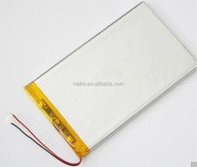 3.7V 1100mAh Li-polymer battery for MP3/DVD/GPS, portable rechargeable lithium polymer battery