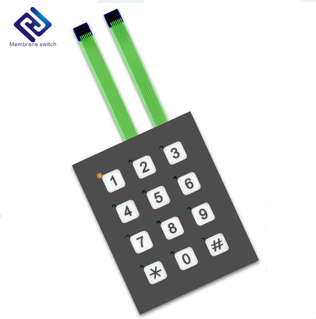 3x4 integrated number membrane access control numeric switch keypad