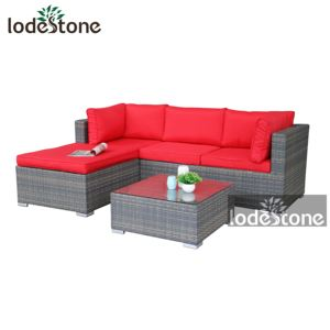 All Weather Modern KD Outdoor Sectional Sofa Garden Rattan Furniture Wicker dining corner Sofa