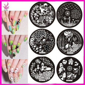New Arrival Hehe Series 61 72 Fashion Stamping Templates Small Round