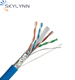 Free Sample Indoor Network 4P Twisted Pair+Drain Wire 25 pair Cat6 STP cable 305 meters
