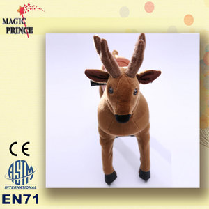 (EN81&ASTM&CE)~(Pass!!)~ Child Toy mechanical ride on animal toy horse on wheels To USA / Plush Rocking animal toys horses Cow