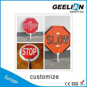 High Quality Traffic Control signs ABS/ Aluminum hand held stop signs