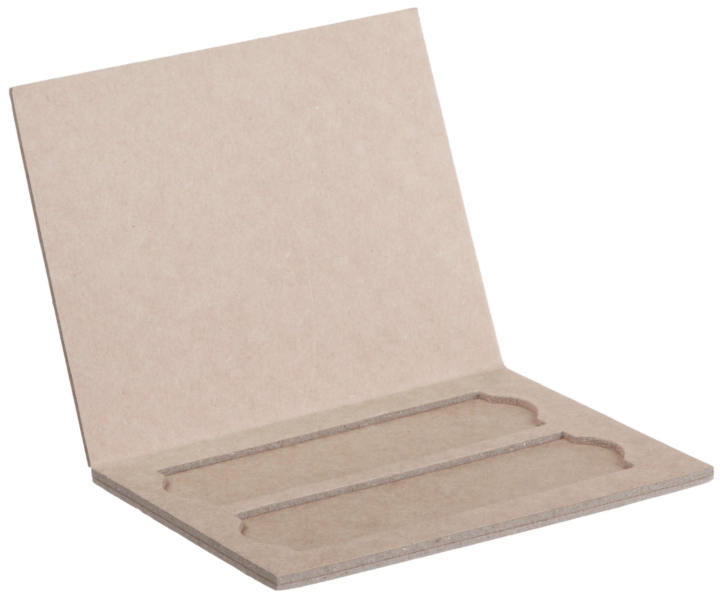 208mm Length X 341mm Width X 9mm Height 20 Place Pack of 72 Heathrow Scientific HD9913 Cardboard Blue Trim Slide Tray