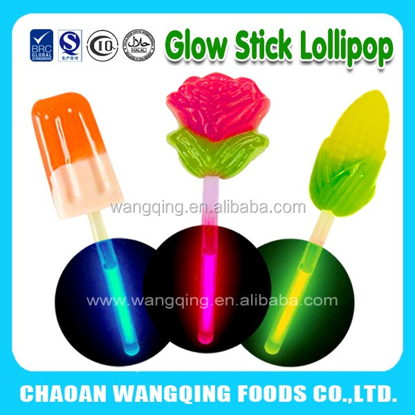 Glow stick lollipop candy