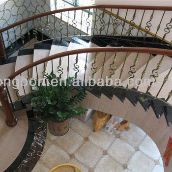 Top Ing Artistic Wrought Iron Stair Handrail Covers