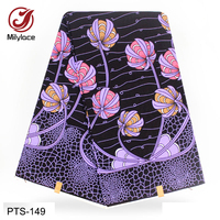 Factory manufacture wholesale cheap flower African printed wax fabric