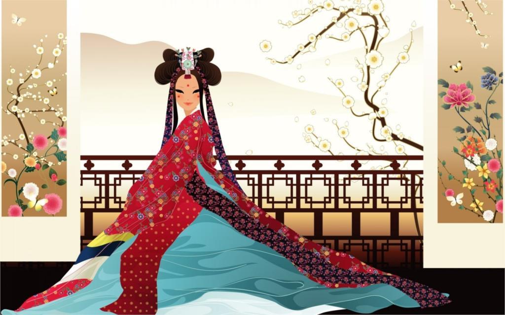 Living room <font><b>home</b></font> wall <font><b>decoration</b></font> fabric poster artistic art artwork women female girls girl woman <font><b>asian</b></font> oriental korean indoor