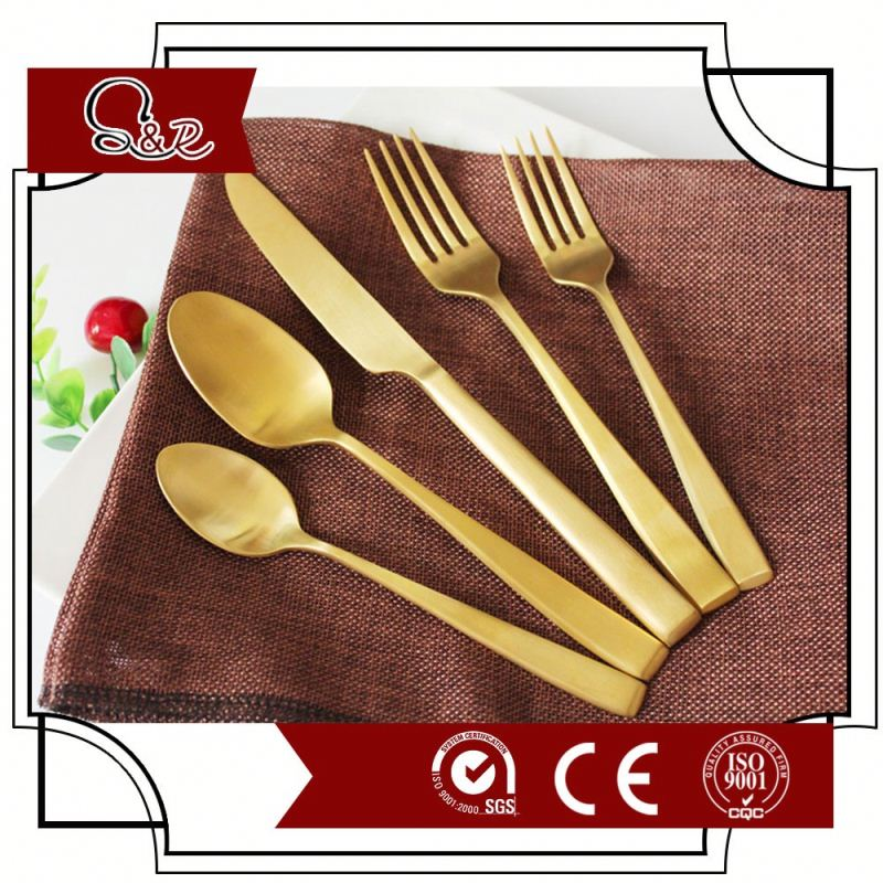 410 SS Stainless Steel Flatware Spoon/Fork/Knife/Tea Spoon C0010 Cutlery Set
