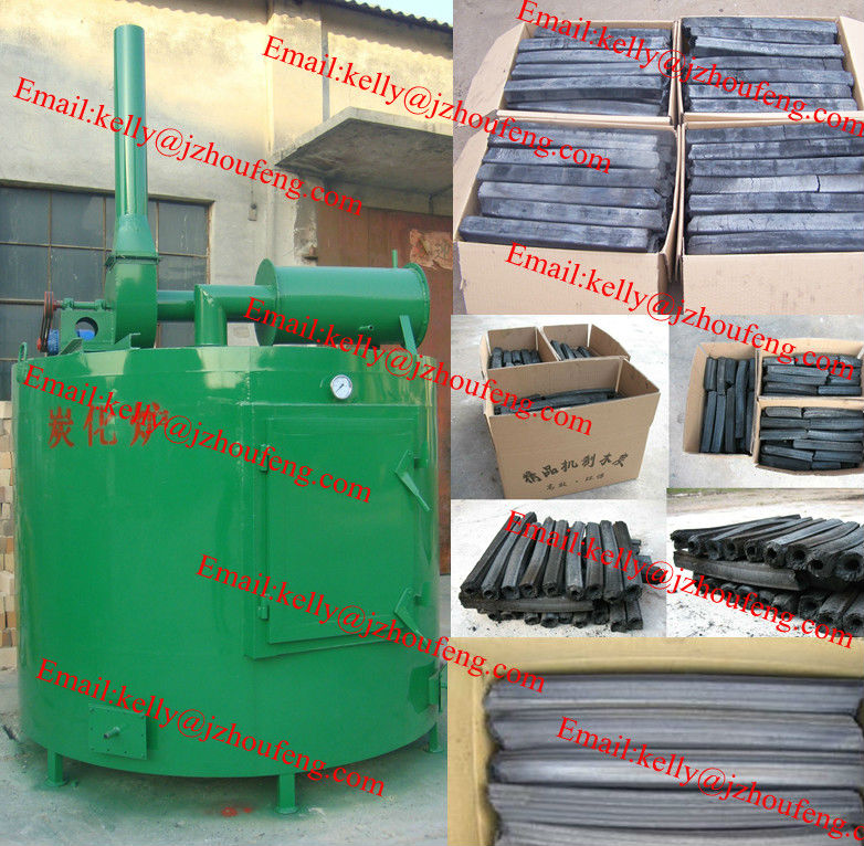 High efficency continous carbonization furnace wood charcoal carbonizing furnace carbonization kiln