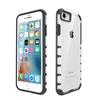 Soft TPU Bumper + Hard PC Back Hybrid Clear Case For iPhone 7 Cover