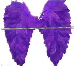 2018 wholesale halloween big feather angel wings for party decorations purple angel feather wings